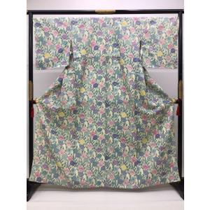 単衣型絵染小紋 けしの花|kimono-waraji