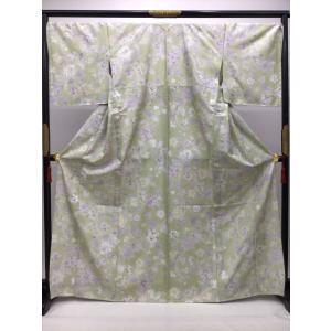 青柳謹製 単衣染赤城紬 kimono-waraji