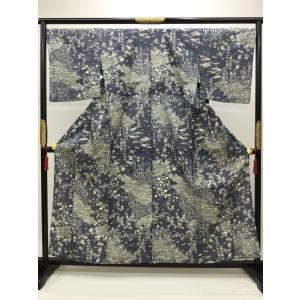 しょうざん謹製 単衣染生紬|kimono-waraji