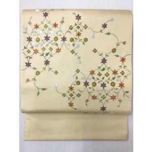 長艸繍巧房謹製 刺繍袋帯|kimono-waraji