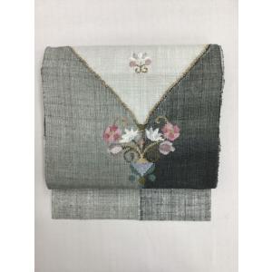 紬八寸名古屋帯  kimono-waraji