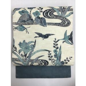 麻染名古屋帯  kimono-waraji