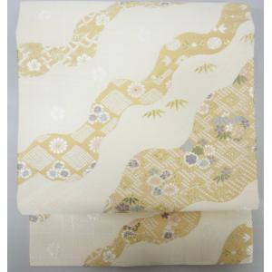 四季花 道長取り 名古屋帯|kimono-waraji