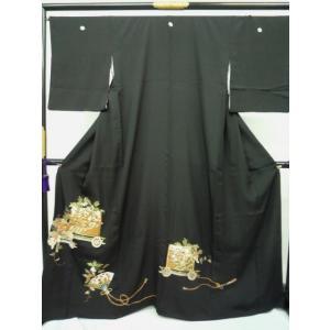 黒留袖 御所車|kimono-waraji
