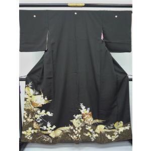 黒留袖 鶴 四季花|kimono-waraji