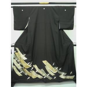 黒留袖 鶴|kimono-waraji