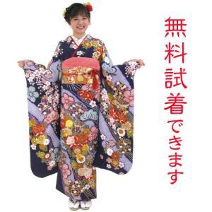振袖レンタル M−005番 22点フルセットレンタル 往復送料無料|kimono-world