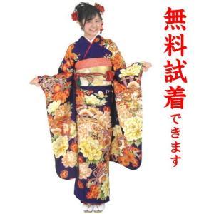 振袖レンタル M−010番 22点フルセットレンタル 往復送料無料|kimono-world