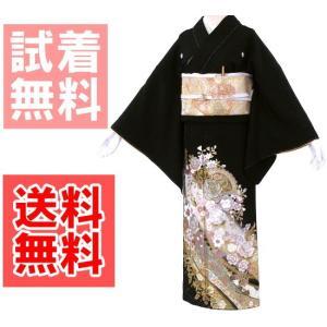 桂由美 花の訪れ 黒留袖レンタル 362番 20点フルセットレンタル 往復送料無料 【kuf】|kimono-world