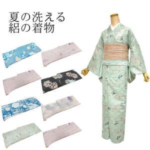 夏の着物 仕立て上がり Mサイズ 洗える 絽 絽の着物 盛夏 洗える着物 小紋 絽 着物 和装 女性  便利 kimono5298