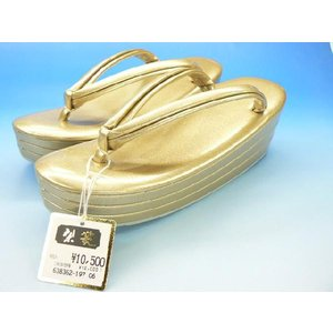 【ゴールド 3段 草履】  振袖 訪問着 フォーマル草履       かかと高め 3段草履                     ゴールド 人気です|kimono5298