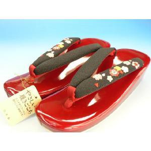 R芯 草履 【赤黒】 フォーマル カジュアルぞうり         訪問着 小紋 紬 |kimono5298