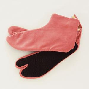 暖かい 足袋 冬 別珍足袋 女性 ローズ 4枚こはぜ 21.5cm〜25.0cm 選べる8サイズ 日...