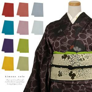 水撚糸 ちりめん 帯揚げ 20色 正絹 帯上げ 洒落 着物|kimonocafe-y