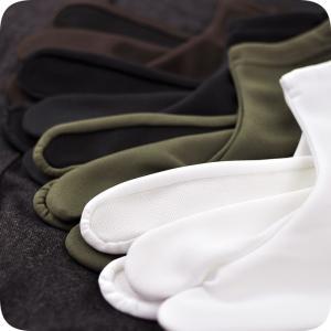 【ソックス 足袋】【ストレッチ】しっかり厚め 口ゴム 実用的な 足袋 こはぜなし 女性 男性 白 黒【メール便可】【あすつく】 kimonocafe-y