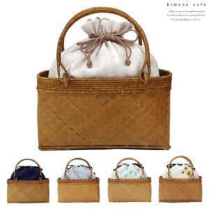 アタ カゴ アタ&竹かご バッグ 浴衣 巾着 バッグ 全6種 線香花火 紫陽花 つばめ レース