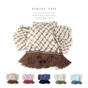 兵児帯 総唄絞りの大人の兵児帯 フリンジ 6色 綿 浴衣帯 へこ帯 レディース 着物 単衣|kimonocafe-y