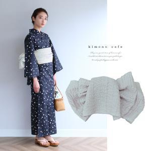 浴衣 セット 2点セット 水玉 ブラック  麻 兵児帯 浴衣セット kimonocafe フリーサイズ Sサイズ ワイドサイズ TLサイズ|kimonocafe-y