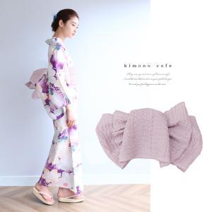 浴衣 セット 2点セット 糸菊 パープル 麻 兵児帯 浴衣セット kimonocafe フリーサイズ Sサイズ ワイドサイズ TLサイズ|kimonocafe-y