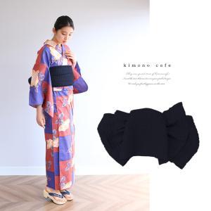 浴衣 セット 2点セット 市松薔薇 ネイビー 麻 兵児帯 浴衣セット kimonocafe フリーサイズ Sサイズ ワイドサイズ TLサイズ|kimonocafe-y