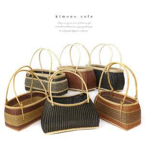 サンプル品&展示品のためお買い得! 高級竹かご 小 デザインおまかせ 籠 カゴバッグ かご バッグ|kimonocafe-y