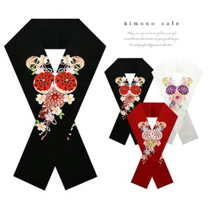 振袖 半襟 刺繍 手まりと桜 礼装 和婚 ママ振袖 結婚式 成人式 卒業式 kimonocafe-y
