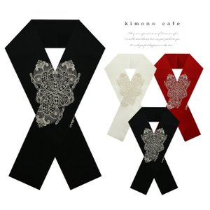 振袖 半襟 刺繍 レース柄 西洋 ゴシック 礼装 和婚 ママ振袖 結婚式 成人式 卒業式 kimonocafe-y