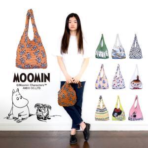 MOOMIN ムーミン エコバッグ レジバッグ 絞りバッグ Lサイズ アンドウ|kimonocafe-y