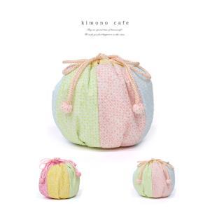 巾着袋 鹿の子絞りの巾着袋 七五三 女の子 着物 三歳 バッグ お祝い 可愛い 上品 シンプル kimonocafe-y