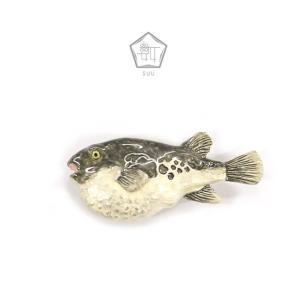 帯留 数 SUU フグ ふぐ 冬 忘年会 てっちり 魚 kimonocafe-y