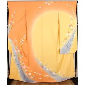振袖 正絹  桜 ki19061  仕立て上がり 成人式には...