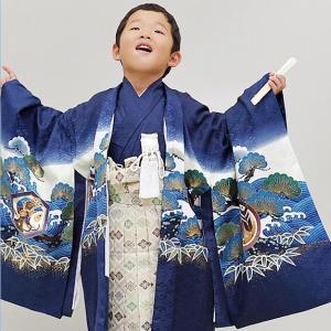 【レンタル】 七五三 5歳 男の子 羽織袴フルセット 羽織袴11点フルセット 着物セット 着物袴セッ...