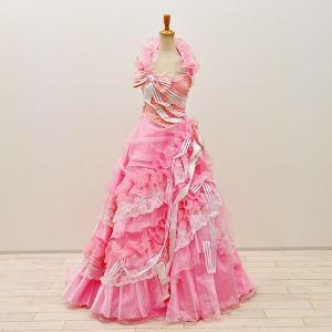 ウエディングドレス カラー 5号  cd2958【中古】 ドレス ウエディングドレス 発表会  ウエ...
