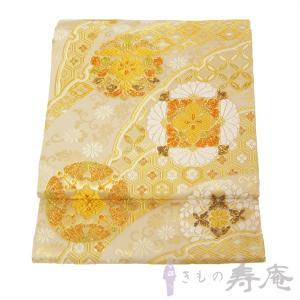 袋帯 礼装 フォーマル帯 西陣ふくい謹製 唐織 華紋 ゴールド 女性用 新品 未仕立 kimonojyuan