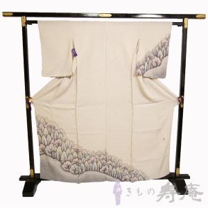 着物 訪問着 藤絹 きぬたや kimono 鹿の子絞り 総絞り ベージュ系 フォーマル用 結婚式 訪問着オーダー かわいい エレガント 新品 日本製 未仕立|kimonojyuan