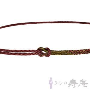 帯締め 丸組  えび茶色 モスグリーン おしゃれ用 正絹 新品|kimonojyuan