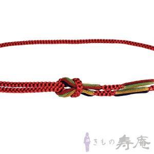 帯締め 丸組 赤茶色 紫 黄土 深緑 おしゃれ用 正絹 新品|kimonojyuan