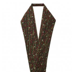 おうち着物 半衿 桜の小柄 緑色 新品 kimonojyuan