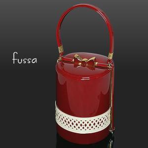 和装バッグ fussa 「赤色×白色」