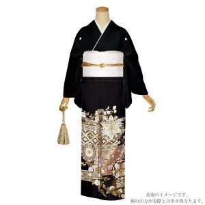お仕立て上がり 黒留袖単品「華文」 紋入れ代込み 正絹着物 留袖 高級プレタ|kimonomachi