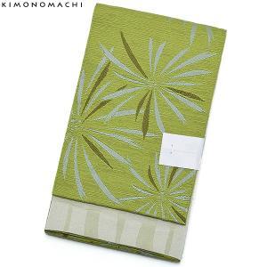 京都きもの町オリジナルの浴衣帯(半幅帯)です。結びやすい程よい柔らかさの小袋帯です。落ち着いた色みに...