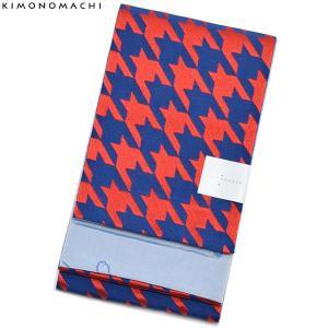 京都きもの町オリジナル浴衣帯単品「千鳥 紺×赤」小袋帯