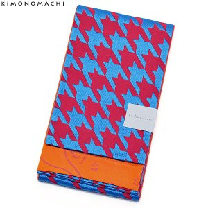京都きもの町オリジナル浴衣帯単品「千鳥 桃×青」小袋帯