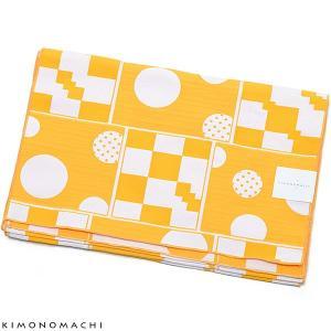 京都きもの町オリジナル浴衣帯単品「幾何学 黄色」兵児帯