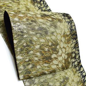振袖 袋帯「ゴールド 吹雪」 未仕立て 正絹帯 振袖帯 六通柄 kimonomachi
