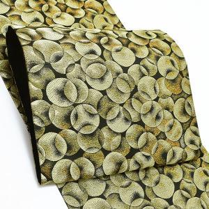 振袖 袋帯「ゴールド バブルス」 未仕立て 正絹帯 振袖帯 六通柄 kimonomachi