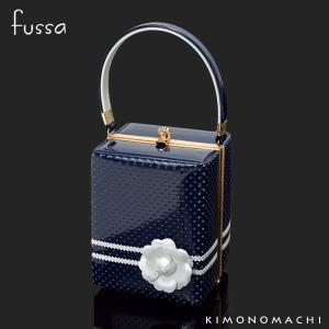 fussa バッグ単品「紺色 レース」