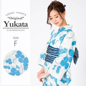 (Prices down)女性 浴衣単品「ブルー 瓢箪」ブルー S、F、TL、LL 平織り レディース ゆかたss1909ykl10|kimonomachi
