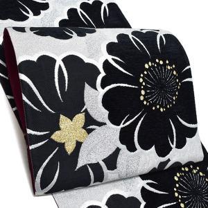 振袖 袋帯「黒×シルバー 桜」