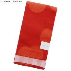 京都きもの町オリジナル 浴衣帯単品「オレンジレッド カタバミ